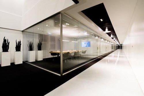 mamparas modulares de vidrio