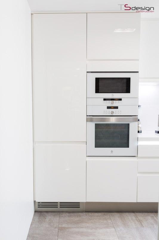 Los electrodomésticos en una cocina pequeña